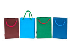 Multicolored shopping bags Royalty Free Stock Photography