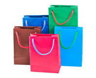 Multicolored shopping bags Stock Images