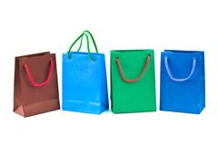 Multicolored shopping bags Stock Photo