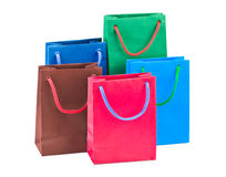 Multicolored shopping bags Royalty Free Stock Photo