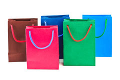 Multicolored shopping bags Royalty Free Stock Images