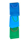 Multicolored shopping bags Stock Image