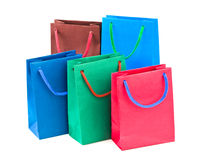 Multicolored shopping bags Royalty Free Stock Image