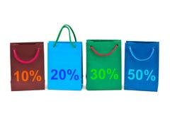 Multicolored shopping bags Stock Photos