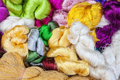 Multicolored silk Royalty Free Stock Photography