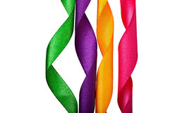 Multicolored silk ribbons Royalty Free Stock Image