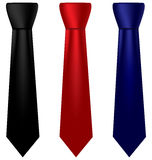 Multicolored silk ties set Royalty Free Stock Photo
