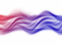 Multicolored Sine Waves Stock Image