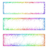 Multicolored sketch banner frame design set. Multicolored sketch banner frame template design set Stock Image