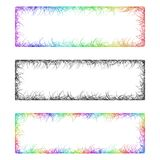 Multicolored sketch banner frame design set. Multicolored sketch banner frame template design set Stock Photos