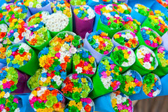 Multicolored small flowers Stock Images