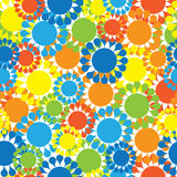 Multicolored small flowers seamless pattern Stock Photo