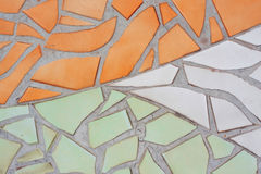 Multicolored small tiles abstract pattern background Stock Photography