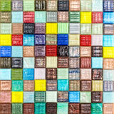 Multicolored smalt for mosaic work as seamless background Royalty Free Stock Photo