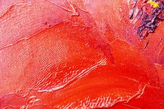 Multicolored smears with oil paint on the canvas. royalty free stock photo