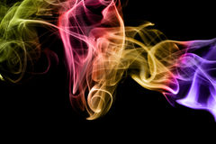 Multicolored smoke Royalty Free Stock Images