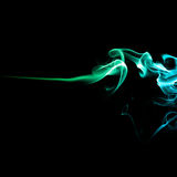Multicolored smoke on black Stock Images