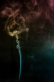 Multicolored smoke Stock Photo