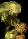 Multicolored smoke detail Stock Image