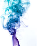 Multicolored smoke detail Royalty Free Stock Images