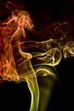 Multicolored smoke detail Stock Photos