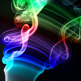 Multicolored smoke isolated on a black background Stock Image