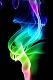 Multicolored smoke isolated on a black background Royalty Free Stock Photos