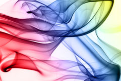 Multicolored smoke Stock Photography