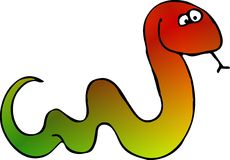 Multicolored snake Royalty Free Stock Images
