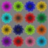 Multicolored sneeuwstorm Royalty-vrije Stock Afbeeldingen