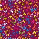 Multicolored snowflakes of seamless pattern Stock Photography