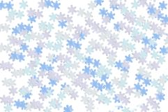 Multicolored snowflakes. stock images