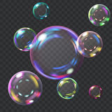 Multicolored soap bubbles royalty free illustration