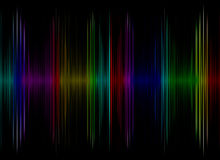 Multicolored sound equalizer display as abstract  background. Digitally generated image Royalty Free Stock Photos