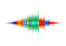 Multicolored sound wave Royalty Free Stock Images