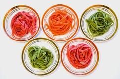 Multicolored Spaghetti Stock Photo