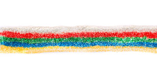 Multicolored sparkled glitter glue line royalty free stock photography