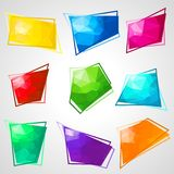 Multicolored speech bubbles with abstract Stock Photography