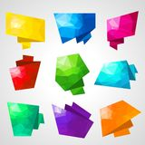 Multicolored speech bubbles with abstract Royalty Free Stock Photo