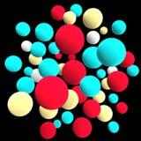 Multicolored spheres. 3d volumetric sphere balls background vector illustration