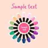 Multicolored spijkerlak in een cirkel 2 Royalty-vrije Stock Afbeeldingen