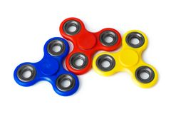 Multicolored spinners stock afbeeldingen