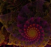 Multicolored spiraalvormig fractal beeld Stock Afbeeldingen