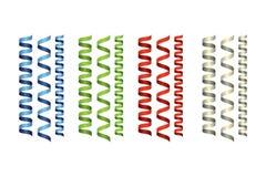 Multicolored spiraalvormige linten royalty-vrije illustratie