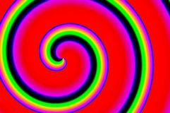 Multicolored spiral Stock Photography