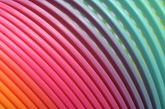 Multicolored spiral spring Stock Photography