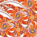 Multicolored spiralen Abstract fantasieornament op witte achtergrond Stock Afbeelding