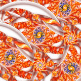 Multicolored spirals. Abstract fantasy ornament on white background. Stock Image