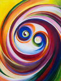 Multicolored spirals Royalty Free Stock Photography