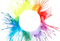 Multicolored splash background Stock Images